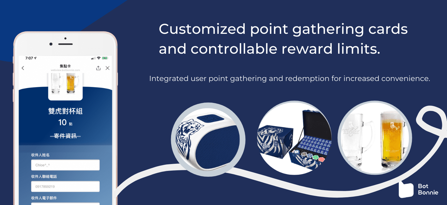 Integrated user point gathering and redemption for increased convenience.