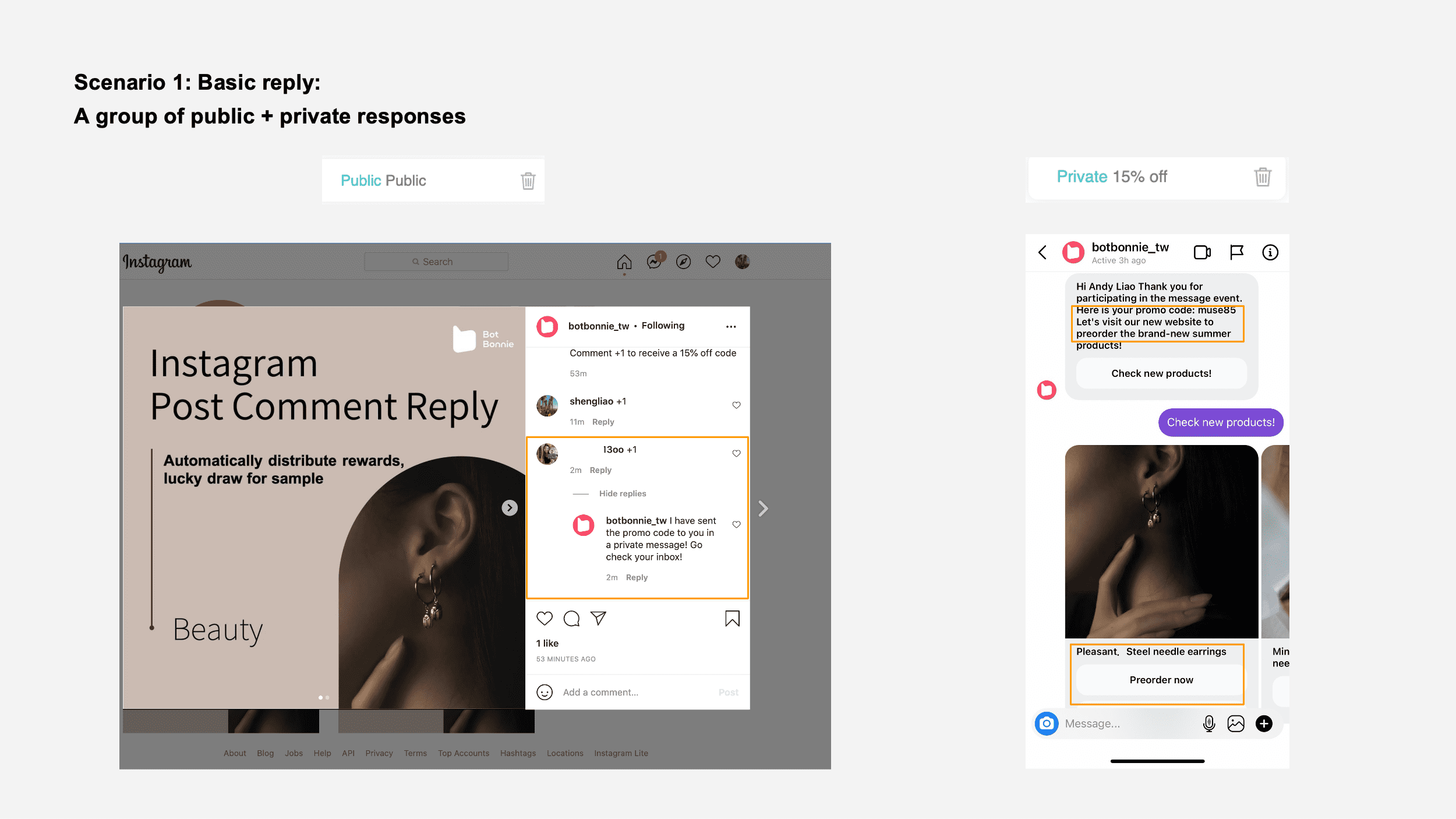 Basic reply sample